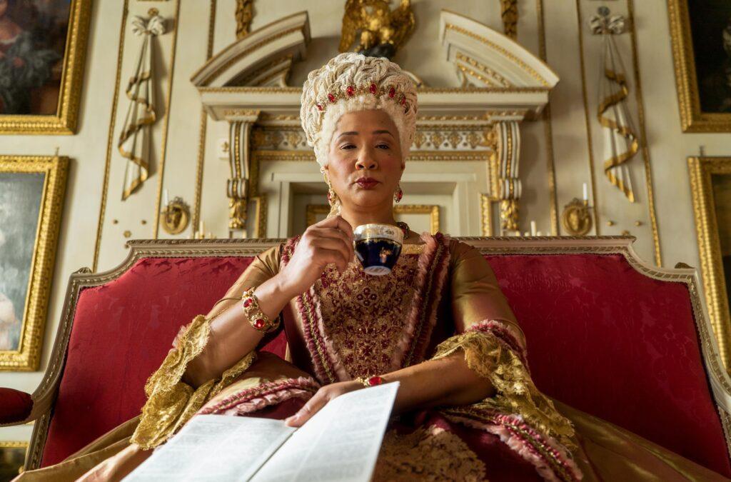 Golda Rosheuvel as Queen Charlotte on 'Bridgerton'.