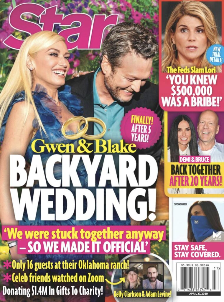 Gwen Stefani and Blake Shelton on the cover of Star Magazine