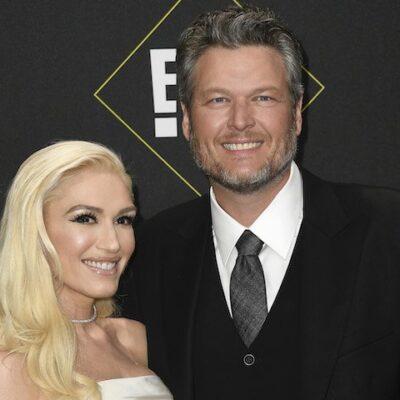 Gwen Stefani and Blake Shelton attend the 2019 E! People's Choice Awards at Barker Hangar on Novembe