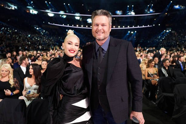 Gwen Stefani and Blake Shelton attend the 53rd annual CMA Awards at the Bridgestone Arena