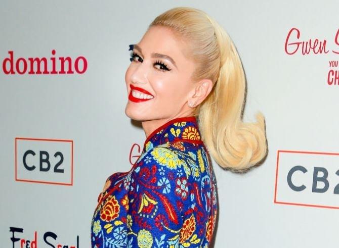 Gwen Stefani Baby Bump Baggy Clothes