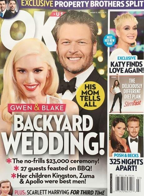 Gwen Stefani Blake Shelton Backyard Wedding Cover