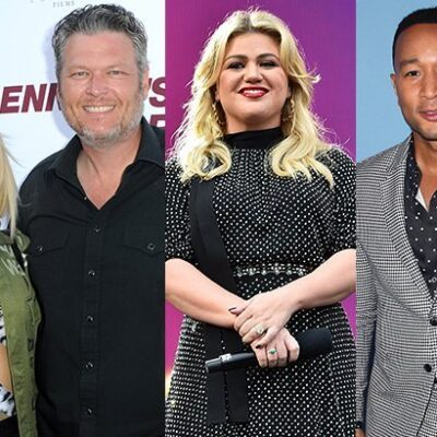 Gwen Stefani Blake Shelton Kelly Clarkson John Legend The Voice feuds