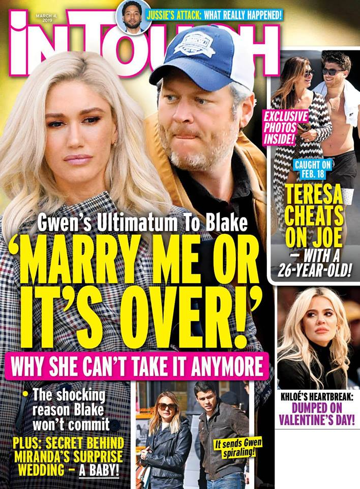 Gwen Stefani Blake Shelton Marriage Ultimatum