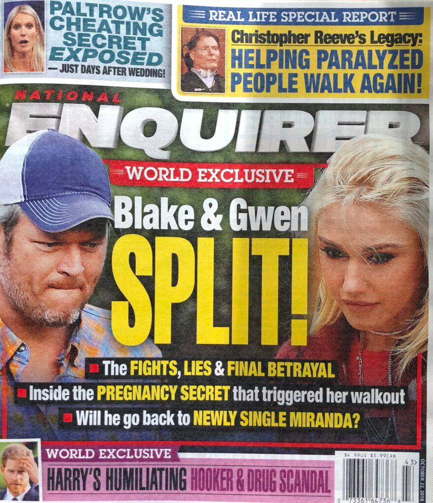 Gwen Stefani Blake Shelton Split
