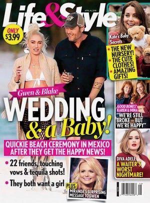 Gwen Stefani Blake Shelton Wedding Baby