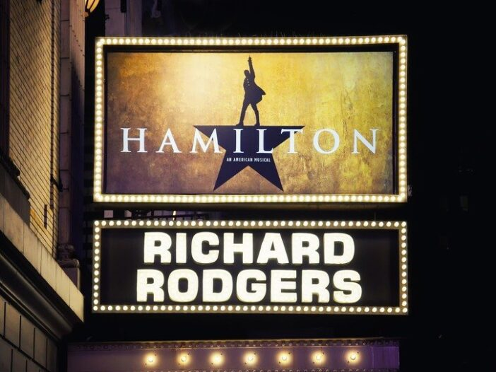 _Hamilton_ marquee at Richard Rodgers Theatre in New York City