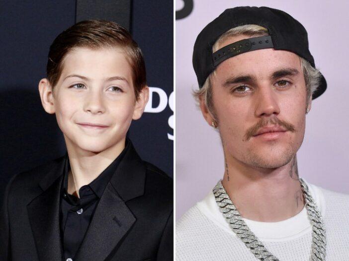 Jacob Tremblay and Justin Bieber
