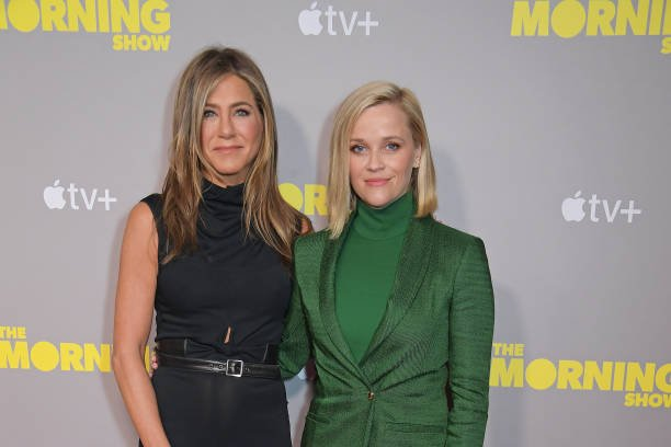 """Jennifer Aniston and Reese Witherspoon attend a special screening of Apple's """"The Morning Show"""""""