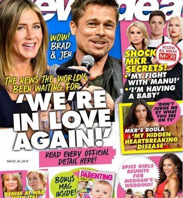 Jennifer Aniston Brad Pitt New Idea Cover