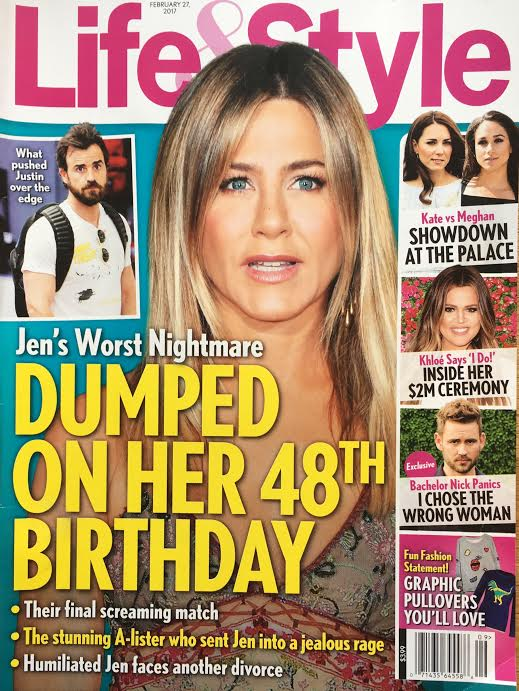 Jennifer Aniston Dumped Justin Theroux Birthday