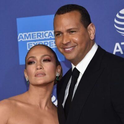 Jennifer Lopez and Alex Rodriguez arrive for the 31st Annual Palm Springs International Film Festiva