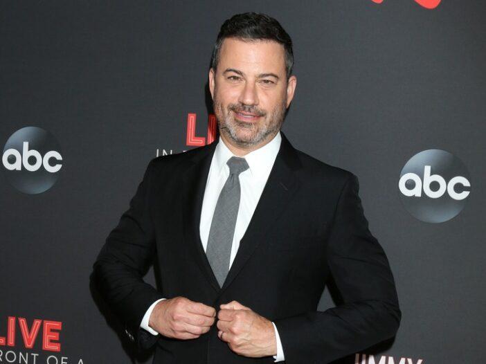 Jimmy Kimmel in a black suit.