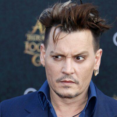 Johnny Depp looking very skeptical