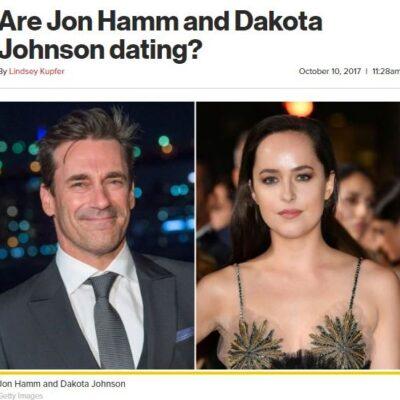 Jon Hamm Dakota Johnson Dating