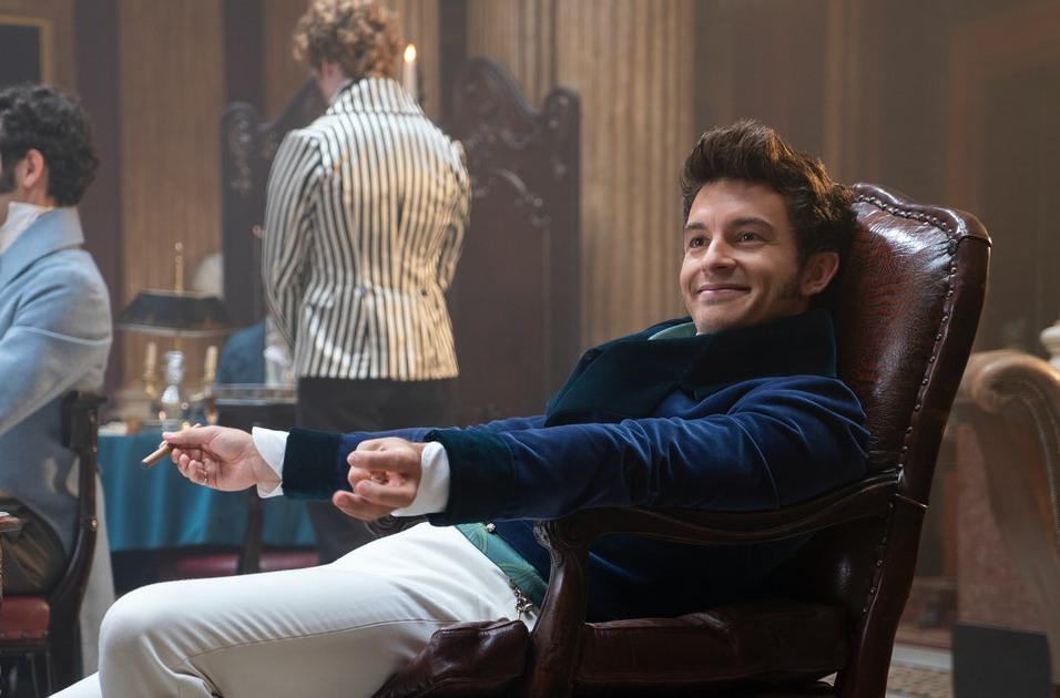 Jonathan Bailey as Anthony Bridgerton in 'Bridgerton'.