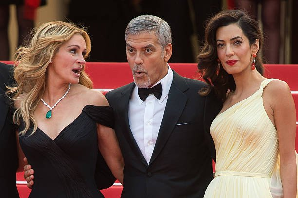 """Julia Roberts, George Clooney and Amal Clooney attend the screening of """"Money Monster"""" at the annual"""