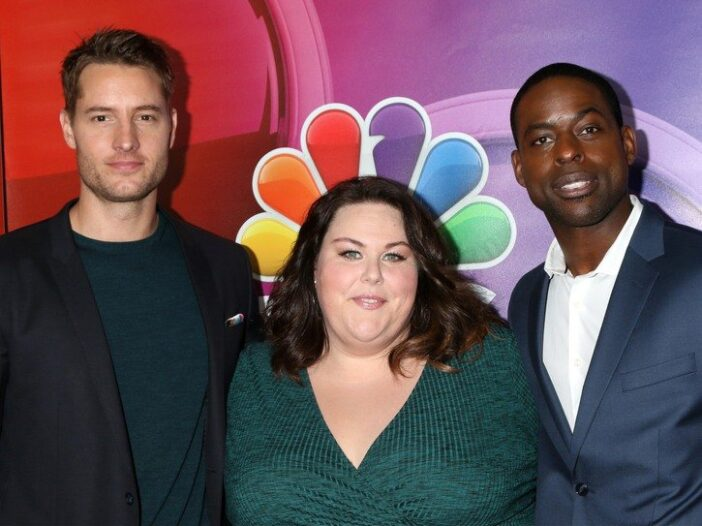 Justin Hartley, Chrissy Metz, Sterling K Brown at the NBC/Universal TCA Winter 2017 at Langham Hotel