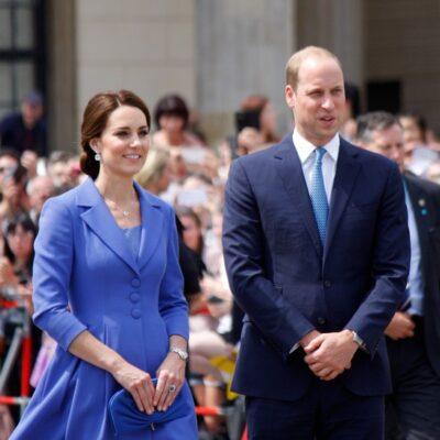 Kate Middleton and Prince William visit the Brandenburg Gate in Berlin, 2017