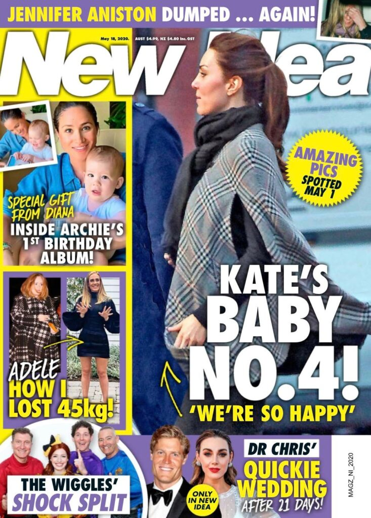Kate Middleton on the cover of New Idea claiming she is pregnant