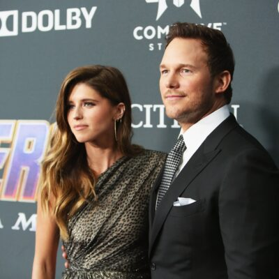 "Katherine Schwarzenegger and Chris Pratt attend the Los Angeles World Premiere of Marvel Studios' ""A"
