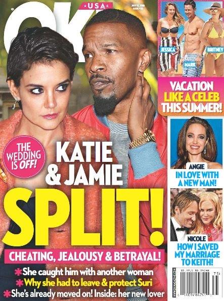 Katie Holmes Jamie Foxx Split Cover