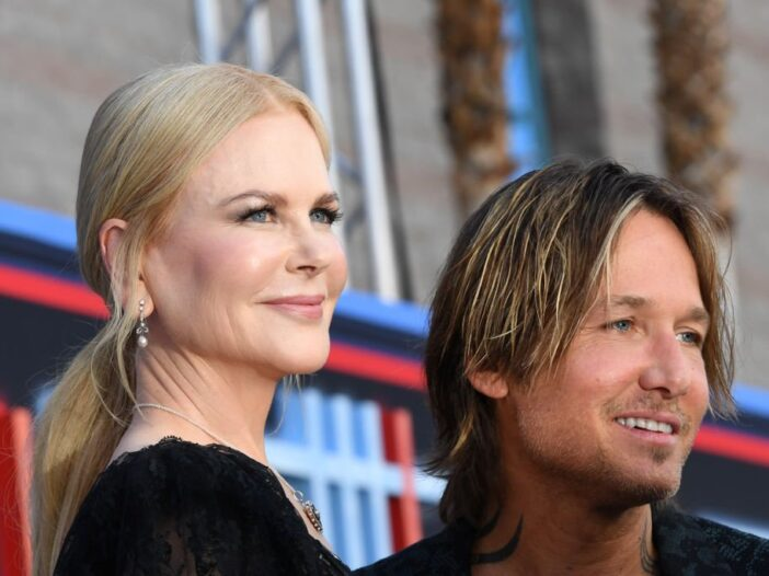 Keith Urban and Nicole Kidman arrive for the 54th Academy of Country Music Awards