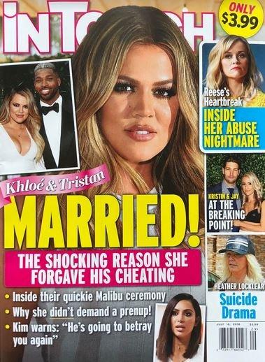 Khloe Kardashian Tristan Thompson Married Cover