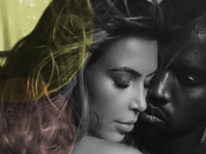 """Kim Kardashian and Kanye West in his music video for his song """"Bound 2"""""""