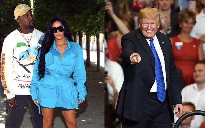 Kim Kardashian Kanye West Donald Trump Baby
