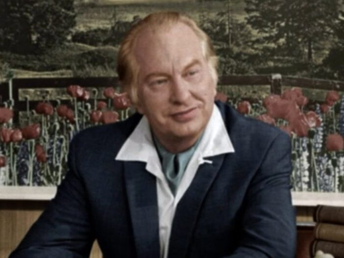 L. Ron Hubbard later in life, as seen in the HBO documentary _Going Clear_.