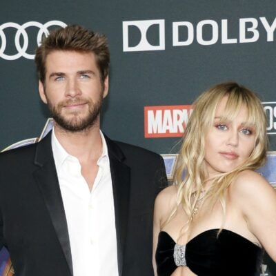 Liam Hemsworth and Miley Cyrus together at the Avengers: Endgame premiere.
