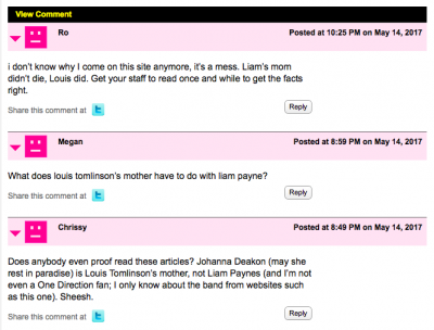 Liam Payne HollywoodLife Comments
