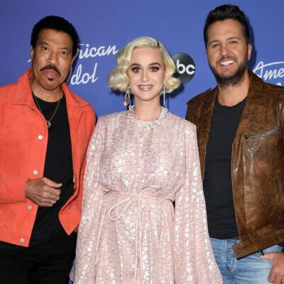 """Lionel Richie, Katy Perry and Luke Bryan attend the premiere event for """"American Idol"""""""
