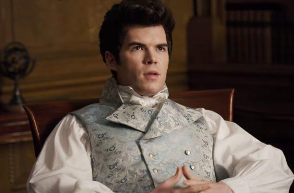 Luke Newton as Colin Bridgerton in 'Bridgerton'.
