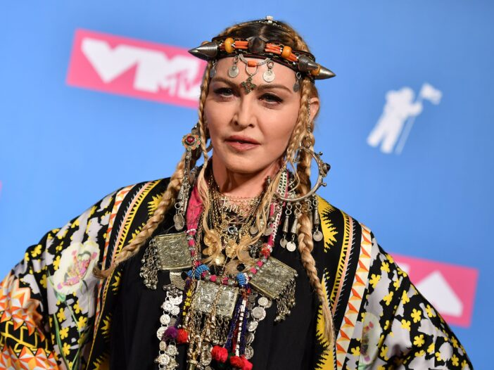 Madonna poses in the press room at the 2018 MTV Video Music Awards at Radio City Music Hall
