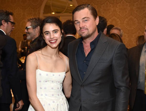 Margaret Qualley and Leonardo DiCaprio attend the 20th Annual AFI Awards