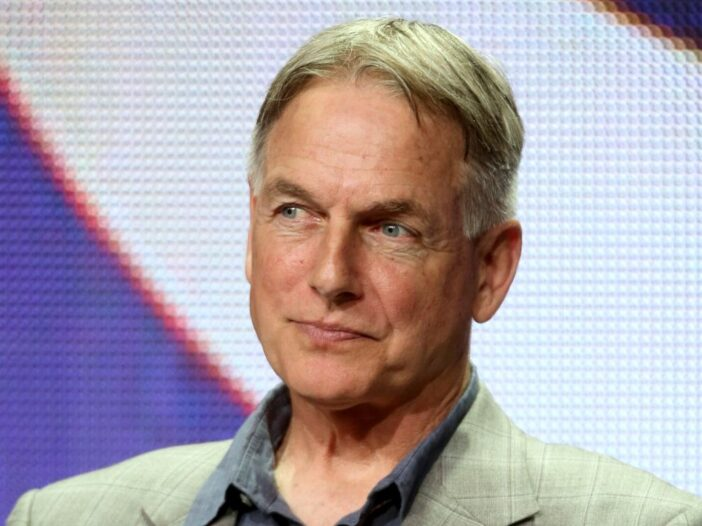 Mark Harmon in a blazer and jeans onstage at the 2014 Summer Television Critics Association