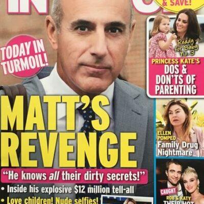 Matt Lauer Tell All Cover
