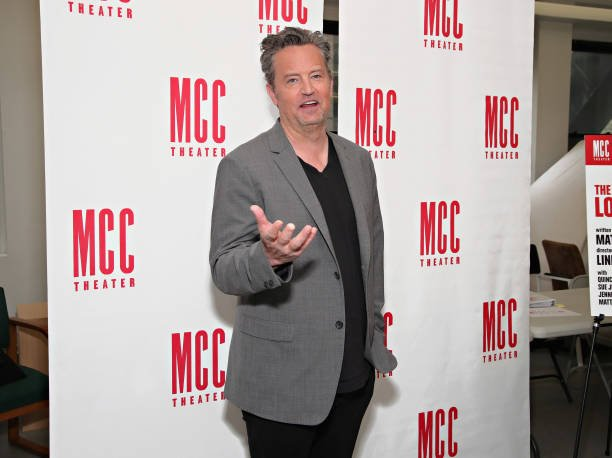 """Matthew Perry attends """"The End Of Longing"""" cast photocall at Roundabout Rehearsal Studio"""