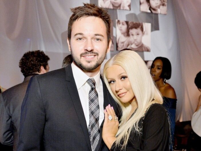 Matthew Rutler and Christina Aguilera attend the Fifth Annual Baby2Baby Gala