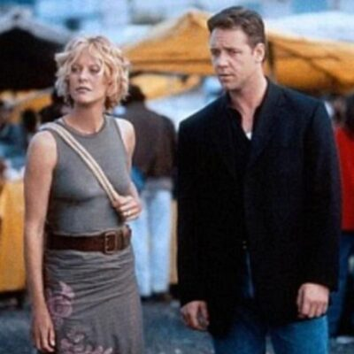 A screenshot from 2000's Proof Of Life with Meg Ryan and Russell Crowe