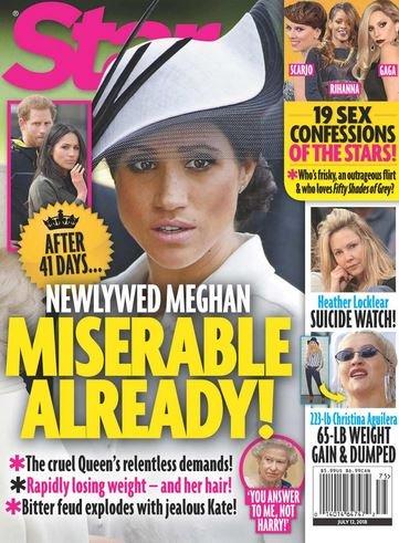 Meghan Markle Miserable Star Cover