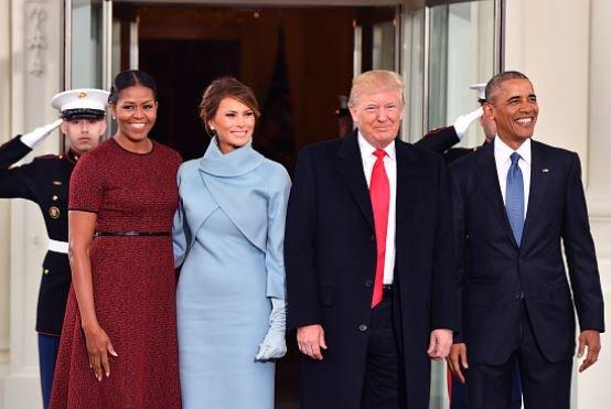 Melania Trump Michelle Obama Christmas Decorations