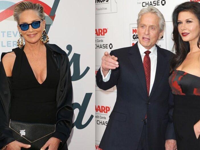 Michael Douglas Catherine Zeta Jones Sharon Stone