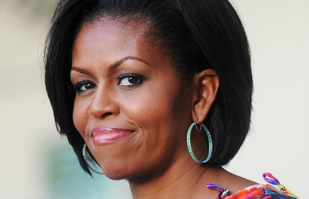 Michelle Obama wearing a multicolored dress at the Cinco De Mayo reception at the White House