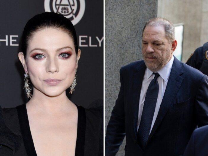 Michelle Trachtenberg and Harvey Weinstein