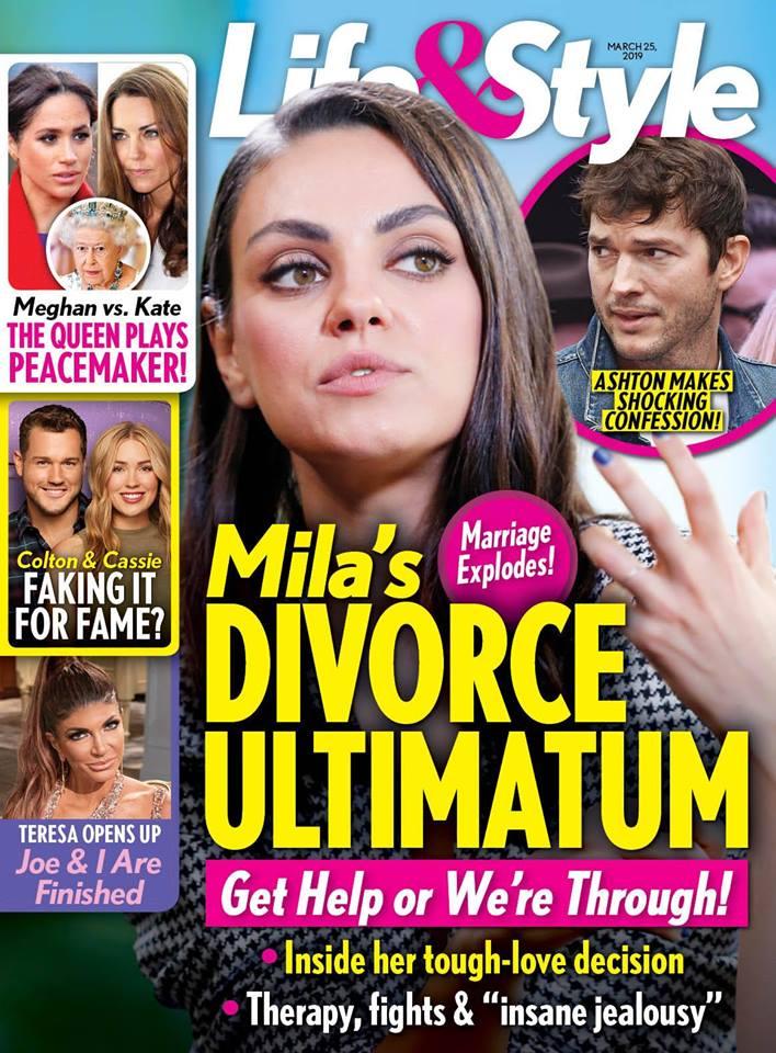 Mila Kunis Ashton Kutcher Divorce Ultimatum
