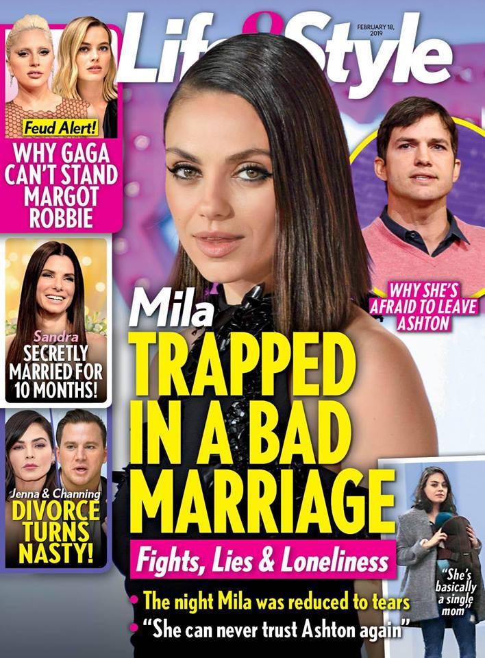 Mila Kunis Ashton Kutcher Marriage Crisis