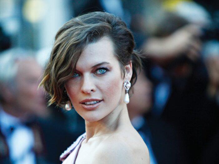 Milla Jovovich on the red carpet